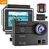 Jeemak Action Cam 4K Wifi 16MP Touchscreen 30M Wasserdicht Unterwasser Kamera mit 2 Akkus Fernbedienung Montage Zubeh�r Kits Kompatibel gopro Bild