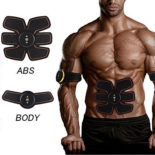 [neue Version 2018] Jingfude Professional EMS Bauch Muskelaufbau Gürtel Home Fitness Training Gear, Vibration Pads für Männer und Frauen zu Tone, Gewichtsverlust, Trimmer, schlank, former, Strong (Oberschenkel-former Männer)