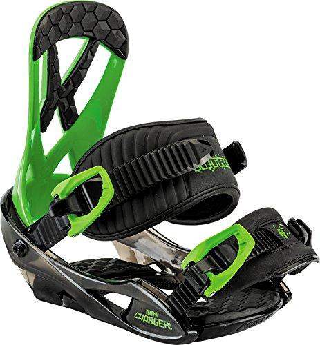 Nitro Snowboards Kinder Mini Charger Snowboard Bindung, Green, S