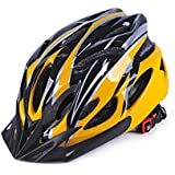 Coromose Bicycle Helmet Integrated Molding Breathable Cycling Helmet for Man Woman Yellow Black Free Size