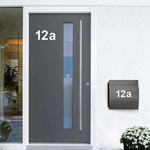 Wandora W1473 Wandtattoo Hausnummer selbstklebend I weiß Höhe 6 cm Zeichen 5 I Zahlen Buchstaben Ziffern Tür Beschriftung (Buchstaben Und Nummer Wandtattoos)