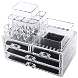 Songmics-2-en-1-Organisateur-Maquillage-4-Tiroirs-acrylique-transparent-JKA001