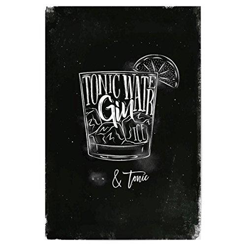artboxONE Poster 30x20 cm Gin Tonic Cocktail Chalk von Künstler Anna Kozlenko