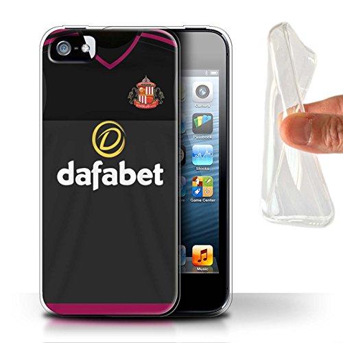 Offiziell Sunderland AFC Hülle / Gel TPU Case für Apple iPhone 5/5S / Pack 24pcs Muster / SAFC Trikot Away 15/16 Kollektion Torwart