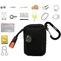 The Friendly Swede Survival-Pod - Survival-Kit inklusive Drahtsäge, Rettungsdecke und Paracord