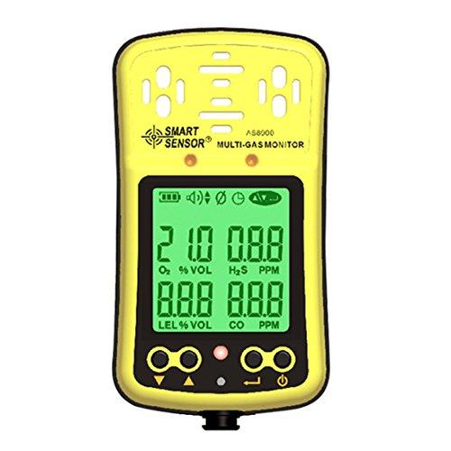Digital Oxygen/hydrothion/Kohlenmonoxid/combustile Gasmelder 4in1O2/H2S/CO Multi Gas Tester SmartSensor as8900 -