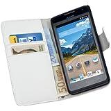 yayago Praktische Book-Style Tasche in Creme Weiß mit Kartenfächern für Huawei Ascend Y530