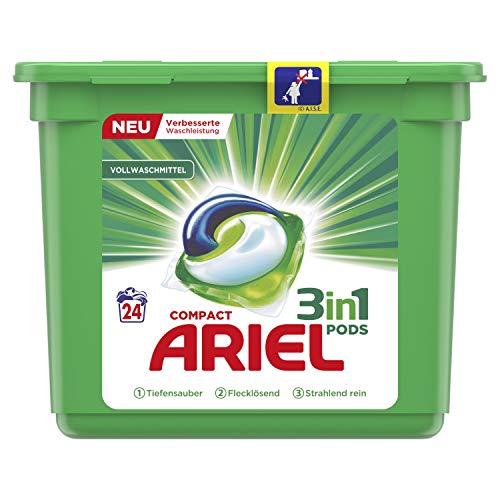 Ariel 3 in 1 Pods Vollwaschmittel, 24 Waschladungen