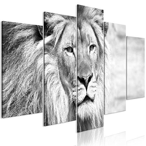 Murando   Cuadro León 100x50 cm   impresión 5 Piezas
