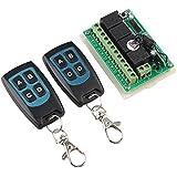 haljia 12V 4ch canal 433mhz Interruptor de control remoto inalámbrico de alta sensibilidad de recepción memoria con 2transmisor