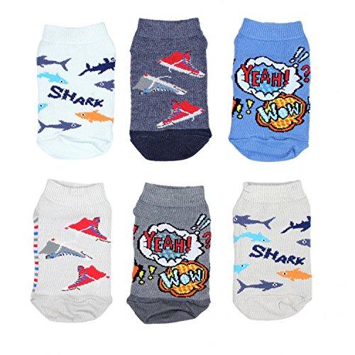 TupTam Unisex Kinder Socken Bunt Gemustert 6er Pack, Farbe: Kurzsocken Junge, Größe: 27-30
