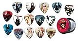 Avril Lavigne Boite Rangement pour Médiator and Pack de 15 Médiators (Gold Edition)