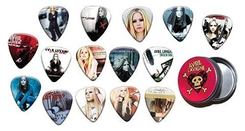 Avril Lavigne Boite Rangement pour Médiator & Pack de 15 Médiators (Gold Edition)