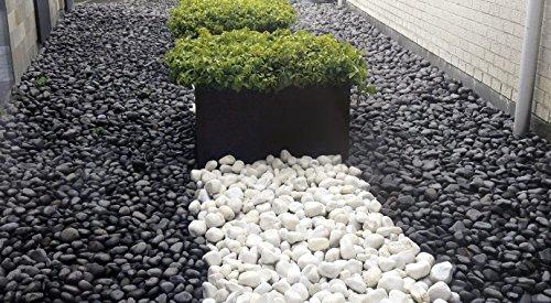 Ciottoli di marmo nero ebano 4 sacchi da 25 kg sassi for Sassi x giardino prezzi