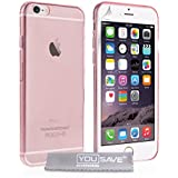 Yousave Accessories iPhone 6 Hülle Rosa Ultradünne Silikon Gel Schutzhülle