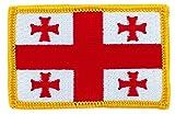Patch Aufnäher bestickt Flagge Georgie Georgien zum Aufbügeln Abzeichen Backpack