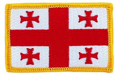 Patch Aufnäher bestickt Flagge Georgie Georgien zum Aufbügeln Abzeichen Backpack (Souvenirs Aus Georgien)