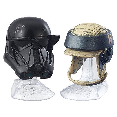 Hasbro B8998 - Star Wars Black Series Titanium Helmet Collection - Imperial Death Trooper and Rebel Commando