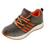 Best adidas Woodland Shoes - BRiiX Men Grey and Orange Mesh Sports Running/Walking/Training Review