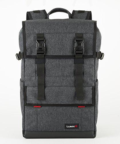 LUMIX DMW-PB10 Rucksack (18,0 Liter Volumen; wasserabweisender Boden; passend für Laptops bis 15''), grau/schwarz