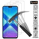 【3 Pièces】Huawei Honor 8X Verre trempé, ANEWSIR Huawei Honor 8X Protection d'écran Film écran [0.26mm / 9H / Anti Rayures / Sans Bulles / 99%Haut Définition] - Ultra Résistante Transparent Glass Screen Protector pour Honor 8X (6.5 pouces).