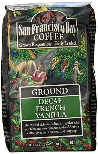 San Francisco Bay Coffee Ground, Decaf French Vanilla, 12 Ounce by San Francisco Bay Coffee