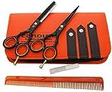 CANDURE-55-tijeras-de-peluquera-profesional-Deep-Negro-tijeras-de-peluquera-Tornillo-Fijar-pelo-de-peluquera-tijeras-del-corte-del-peluquero-y-saln-de-adelgazamiento-Tijeras-Set
