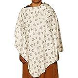 #8: Kadambaby - Premium Nursing Cover/Breastfeeding Poncho/100% Cotton. Stylish Nursing poncho/can be used as Stole/Scarf (Black Star)