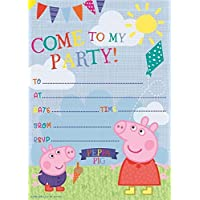 Amazon Co Uk Peppa Pig Invitations Party Supplies Toys Games