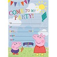 Gemma International Peppa Pig Party Invitations Envelopes 20 Pack