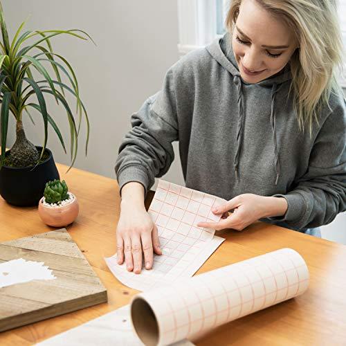 TRANSFER PAPIER mit Gitterraster – 30.5 cm x 2.4 m Rolle – Perfekt für Vinyl Klebefolien von CRICUT, CAMEO u.a. – Perfekt für Wände, Schilder, Aufkleber, Fenster und glatte Oberflächen - 7