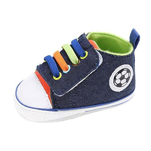 Hunpta Babyschuhe jungen Mädchen Neugeborenes Krippe weiche Sohle Schuhe Sneakers (Alter: 0 ~ 6 Monate, Dark Blue) (Täglichen Bootie Baby)