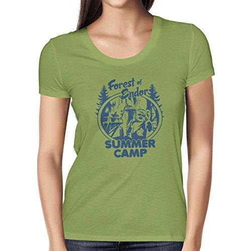 NERDO - Forest of Endor Summer Camp - Damen T-Shirt Kiwi