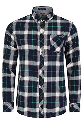 Mens Flannel Check Long Sleeved Shirt by Tokyo Laundry