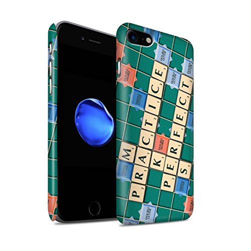 STUFF4 Matte Snap-On Hülle / Case für Apple iPhone 8 / Ignoranz Glück Muster / Scrabble Worte Kollektion Übung den Meister