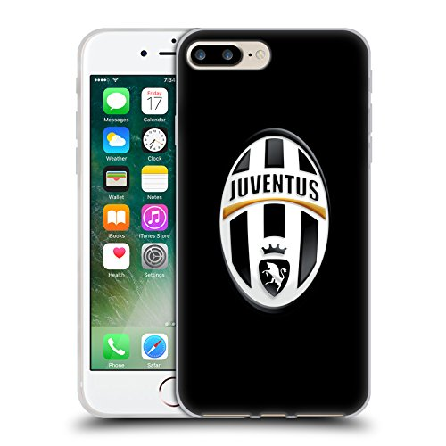 Ufficiale Juventus Football Club Logo Nero Stemma Cover Morbida In Gel Per Apple iPhone 7 Plus