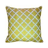43x 43cm gelb geometrische Muster Design Marokkanische Gitter Vierpass-Kissen Bezug-Für Sofa Outdoor Bett Geschenk Home Decor Kissen