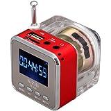 Andoer - Mini reproductor MP3 portátil con radio FM, puerto USB y ranura para tarjeta microSD