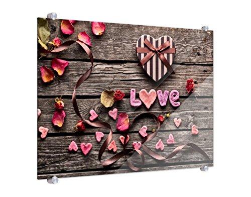Spritzschutz Valentinstag B x H: 80cm x 60cm von Klebefieber®