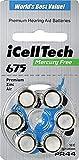 iCellTech Hörgeräte Batterien Größe 675 60...