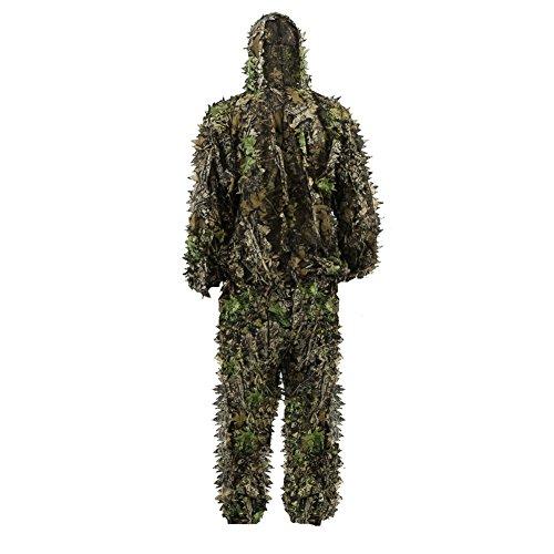 Kinder Tarnanzug, Jungle Regenponcho Ghillie Suit Camouflagemit Tarnkleidung Geeignet zum Verstecken von Spielen, Outdoor, Jagen