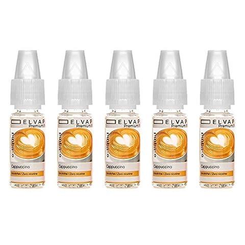 5x10ml Elvapo Premium Plus E-LIQUID | Alle Geschmacksrichtungen | Cappuccino