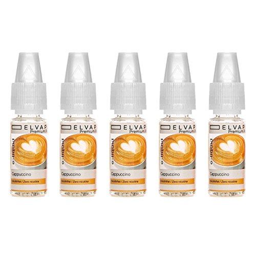 Kosten Juice Plus (5x10ml Elvapo Premium Plus E-LIQUID | Alle Geschmacksrichtungen | Cappuccino - mit extra starkem Geschmack | Spar-Paket für E-Zigaretten und E-Shishas | Made in Germany | 0,0 mg Nikotin)