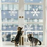 135 Fensterbilder für Weihnachten ,Schneeflocken mit Fensterdeko -Statisch Haftende PVC Aufklebe für 135 Fensterbilder für Weihnachten ,Schneeflocken mit Fensterdeko -Statisch Haftende PVC Aufklebe