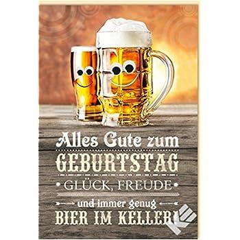 Geburtstagskarte Bier Im Keller Mit Wackelaugen B6 Umschlag