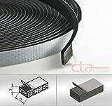 CTA Dichtungen 10m Rolle Moosgummi 15x3 mm EPDM schwarz 1C16-16