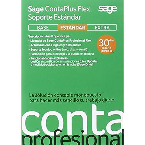 Sage ContaPlus Profesional Flex Soporte Estándar 2015 - Software De Gestión Comercial, Suscripción 1 Año
