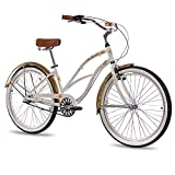 26' Zoll ALU BEACHCRUISER DAMENFAHRRAD CHRISSON SANDY mit 3 Gang SHIMANO NEXUS...