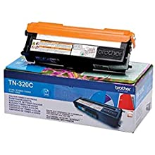 Brother TN-320C Toner Cartridge, Standard Yield, Cyan, Brother Genuine Supplies