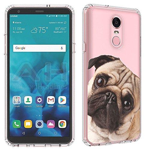 LG Stylo 4Fall (Klar) paletteshield Flexible Slim TPU Haut Phone Cover (Passgenau LG Stylo 4/F Stift) Designs FBA2, IM146 -